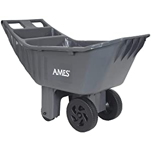 """""""Ames"""" 2463875 Easy Roller Poly Yard Cart, Gray"""
