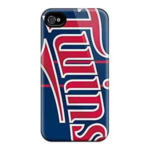Protective Tpu Case With Fashion Design For Iphone 4/4s (minnesota Twins)