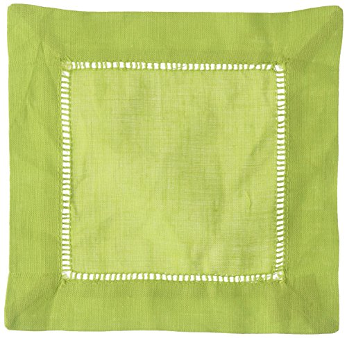 Lm20s Pc - SARO LIFESTYLE 6100C 24/7 Everyday Collection Lime Hemstitched Dinner Napkin, 20