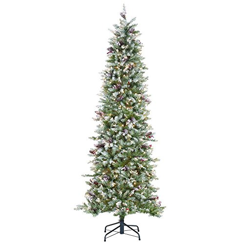 Artificial Christmas Trees Martha Stewart - 7 ft. Christmas Tree Indoor Pre-Lit Dunhill Fir Pencil Slim Artificial