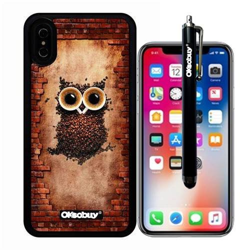 iphone X The truth, Coffee Bean Owl Case, OkSoBuy Ultra Thin Soft Silicone Case for Apple iphone X - Coffee Bean Owl