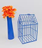 wagner cast iron vintage - Bird Cage Shabby Metal Blue Display Holder Box