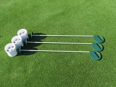 Golf Practice Putting Green - Natural or Synthetic - Deluxe Accessory Kit - (3) Bright White Plastic 4
