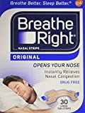 Breathe Right Nasal Strips, Large, Tan, 30-Count Box