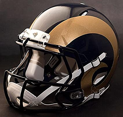af56485698c3a Riddell Speed LOS ANGELES RAMS NFL REPLICA - Casco de fútbol con facetas y  faceguard (