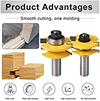 "2pcs//set Router Bit Cabinet Door Handrail Molding 1//2/"" Shank Smooth rotation"