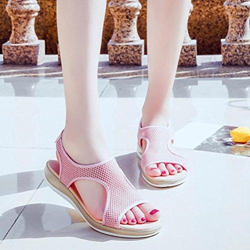 Rose Rome Plat DéRapage Sandales Respirant Talon Femmes Plate Chaussures Plage Femme Beautyjourney Sandales Sexy Chaussures Sandales Sandales SoiréE Anti De OUPCHwx