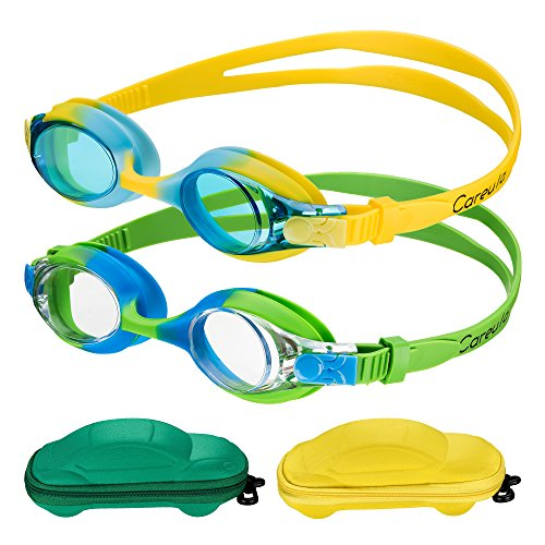 f968a46cc9c Kids Swim Goggles(2-pack) Swimming Goggles for Kid Boys Girls (Age