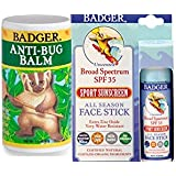 Badger Uv30 Face Stick and Anti-Bug Balm Combo