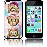 Étui 'Tie Dye Monkey Emoji' en silicone TPU pour Apple iPHONE 5C