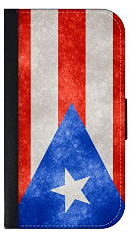 Puerto Rico Flag - TM Phone Case with Closing Flip Cover and Credit Card Slots for the Apple iPhone - Juan San Outlets