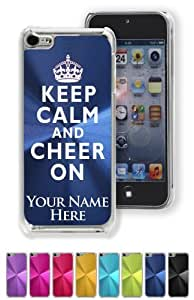 Case/Cover for iPhone 5C - KEEP CALM AND CHEER ON - Personalized for FREE (Click the CONTACT SELLER link after purchase and send a message with your case color and engraving request)