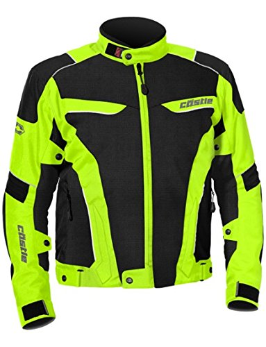 - Castle Max Air Men's Motorcycle Jacket - Hi-Vis - XL