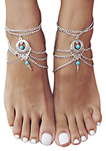 Barefoot Sandals Jewelry Turquoise Anklet