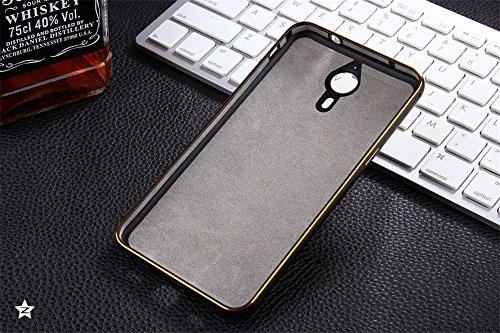 DAYJOY Luxury New Design Armor Shield Arc Edge Ultra Thin Aluminum Alloy Protective Metal Frame Bumper case With 3D Hard PC Back Cover Shell + 1PC tempered glass screen protector film for Letv Le 1 X600 (BLACK)