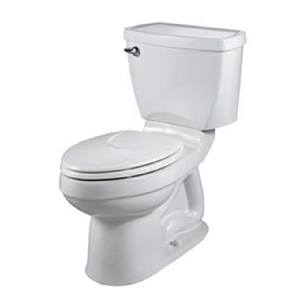 American Standard 2002.014.020 Champion-4 Right Height Elongated Two-Piece Toilet, White (seat not included)