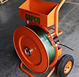 """GAPCO Poly Heavy Duty Strapping/Banding Dispenser + 1 Embossed Polyester Strapping Coil 5/8"""" x .035 x 4000' + Zapak GP97A Battery Powered Automatic 5/8"""" to 3/4"""" PET & PP Combination Strapping Tool"""