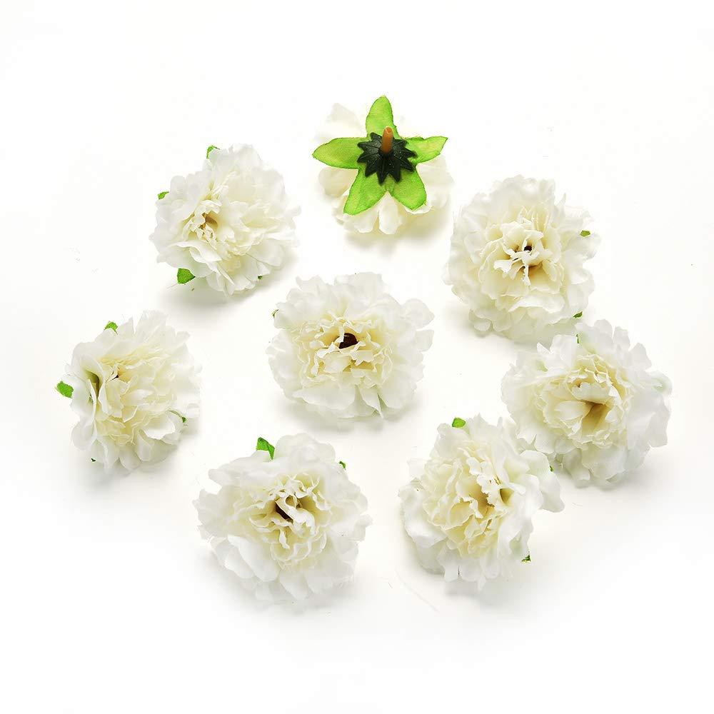 15 Unidades por Lote de 5 cm Flores Artificiales de Seda para decoraci/ón del hogar AZXU