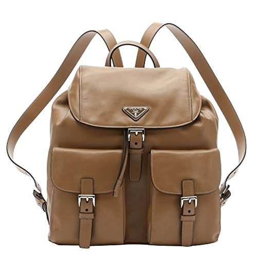 Prada City Sport Caramel Beige Leather Zainetto Backpack - Prada City