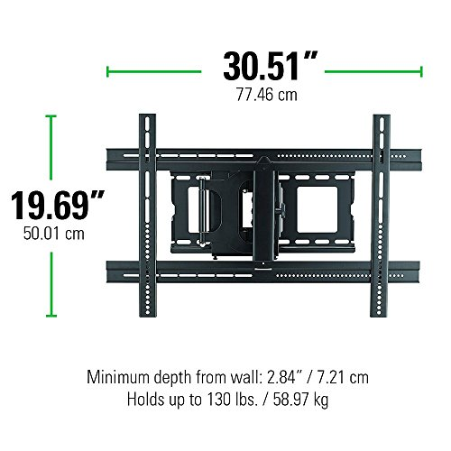 Sanus Mlf13 B1 Articulating Universal Wall Mount For 37 80