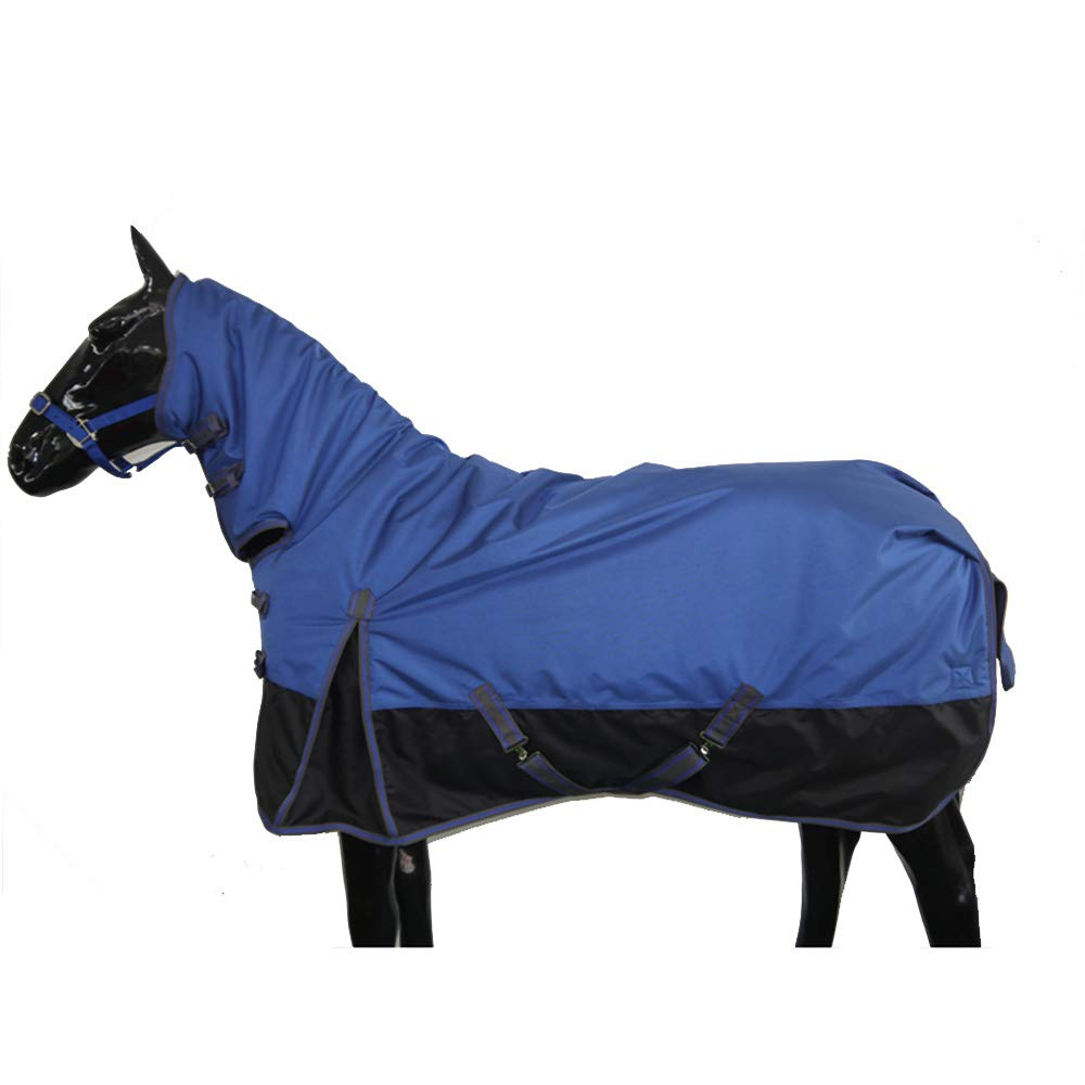 7XL Autumn and Winter Horse Blanket with A Collar 1680D Waterproof and Breathable Oxford Cloth 230G Thick Cotton Warm and Comfortable