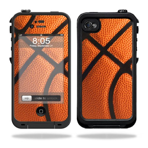 MightySkins Protective Vinyl Skin Decal Cover for LifeProof iPhone 4/4S Case wrap sticker skins Basketball