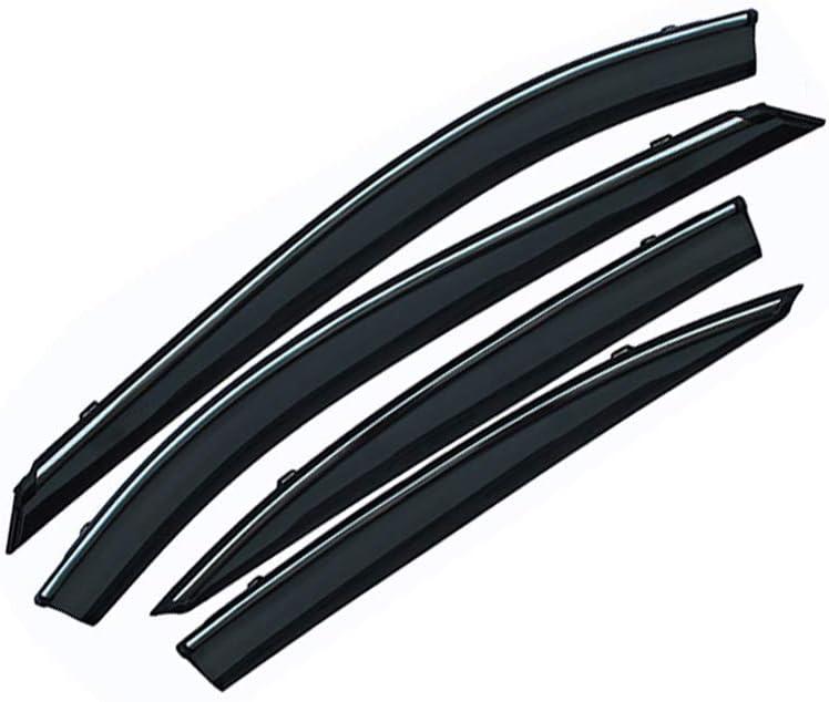 for Honda Accord 2003-2007 4PCS Smoke Deflector Sun Rain Visor Guard Wind Deflectors Car Styling Front Rear Shade Vent Window