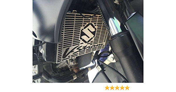 PQZATX Motorcycle Radiator Grille Guard Protector Cover for V-STROM 650 DL650 2004-2010 Water Cooler Black