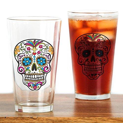CafePress Sugar Skull Pint Glass, 16 oz. Drinking Glass