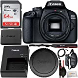 Canon EOS 4000D DSLR Camera (Body Only) and Starter Accessory Bundle - Includes SanDisk Ultra 64GB SDXC Memory Card & Padded Wrist/Hand Strap & Mini HDMI Cable & Cleaning Pen & Dust Blower & MORE