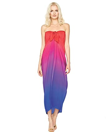 4eb298f30d4d0 Gottex Silk Pareo Radiance 18RA-500 (Sunset) at Amazon Women's Clothing  store: