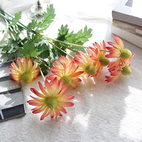 YJYdada Artificial Fake Flowers Aster Chrysanthemum Floral Wedding Bouquet Party Decor (red)