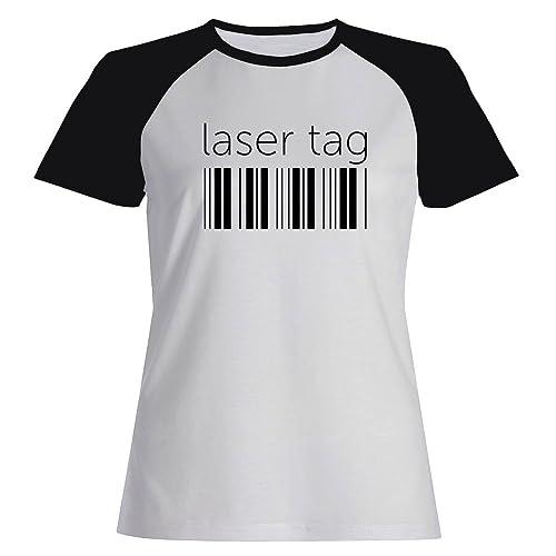 Idakoos Laser Tag barcode - Sport - Maglietta Raglan Donna