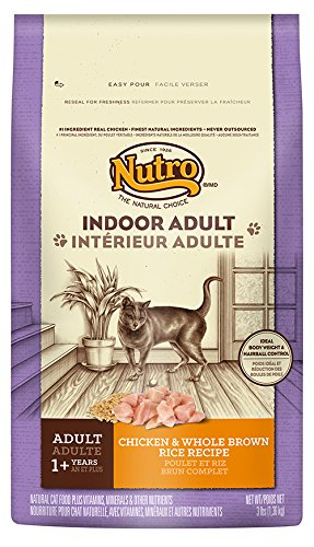 NUTRO Indoor Cat Adult Dry Cat Food, Chicken & Whole Brown R