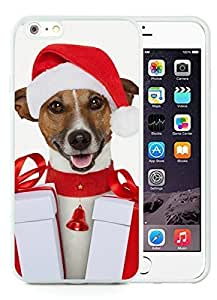 Personalization Case Cover For Apple Iphone 4/4S Christmas Dog White Case Cover For Apple Iphone 4/4S PC Case 31