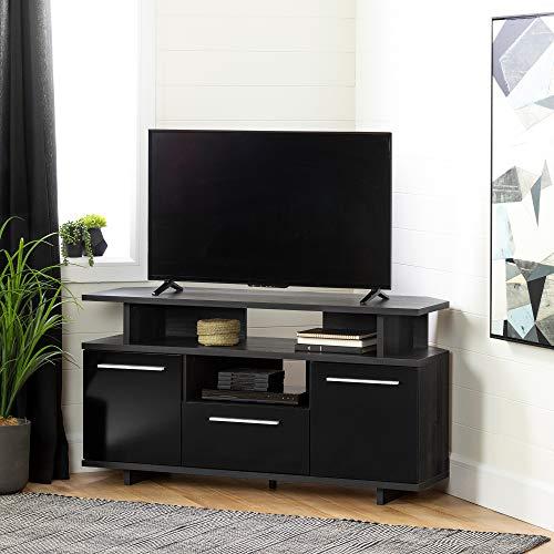 South Shore 12210 Reflekt TV Stand Gray Oak and Black