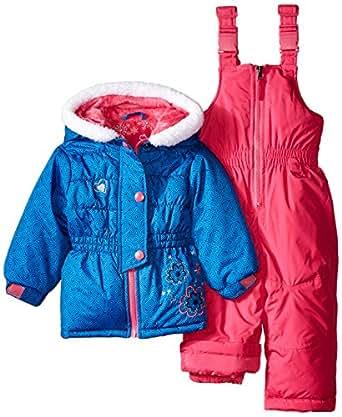 rugged bear baby girls 39 flower snowsuit navy. Black Bedroom Furniture Sets. Home Design Ideas