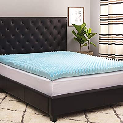 Simmons Beautyrest Comforpedic Loft from Beautyrest 4-inch Sculpted Gel Memory Foam Mattress Topper with Polysilk Cover