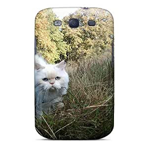 Awesome Carisma The Forest Cat Flip Case With Fashion Design For Galaxy S3