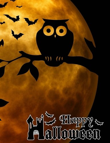 Happy Halloween: Giant-Sized Notebook/Journal with 600 Lined & Numbered Pages: Halloween Owls Cover Design (8.5 x 11/300 Sheets) ()