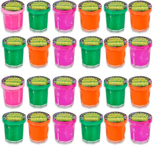 Mini Noise Putty Slime - (Pack of 48) Slime Party Favors Sludge for Kids All Ages, Boys & Girls, Bulk Neon Silly Noise Putty for Goodie Bag Party Supplies (Neon Color Explosion)