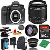 Great Value Bundle for 7D MARK II DSLR – 18-55mm STM + 16GB Memory + Wide Angle + Telephoto Lens + Backpack