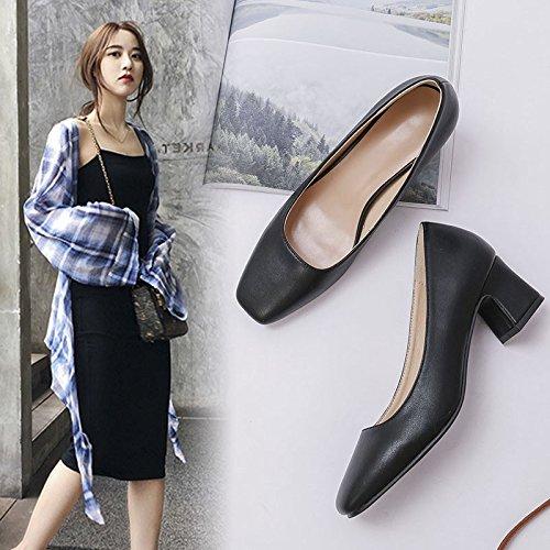 Grandma Work Shoes Female Female Black Jqdyl Heels Dress Shoes Crude Shoes Black heels Professional Single High Shoes High With Shoes Female 4qnnaBU