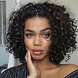 Ten Chopsticks Curly Short 360 Lace Frontal Wigs for Black Women Bob Wigs