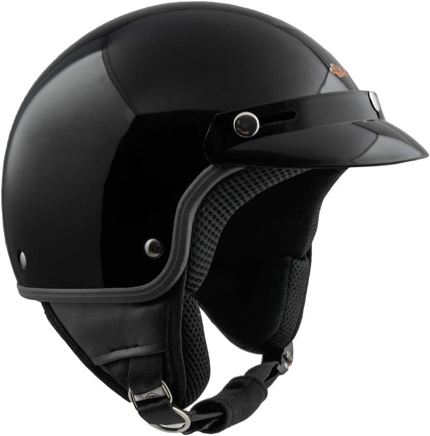 Nero metal 59cm SKA-P Helm demi jet 1FH SMARTY XL