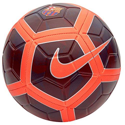 Nike FC Barcelona Strike - Balón de fútbol, Color café y Rojo, Noche Marrón, 5