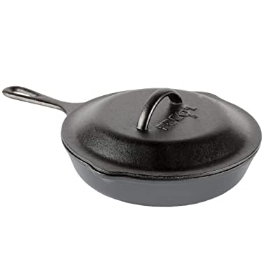 Lodge 6.5 Inch Cast Iron Skillet. Extra Small Cast Iron Skillet with Iron Cover