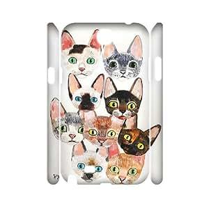 Hjqi - Custom Tabby Cat 3D Phone Case, Tabby Cat DIY Case for Samsung Galaxy Note 2 N7100