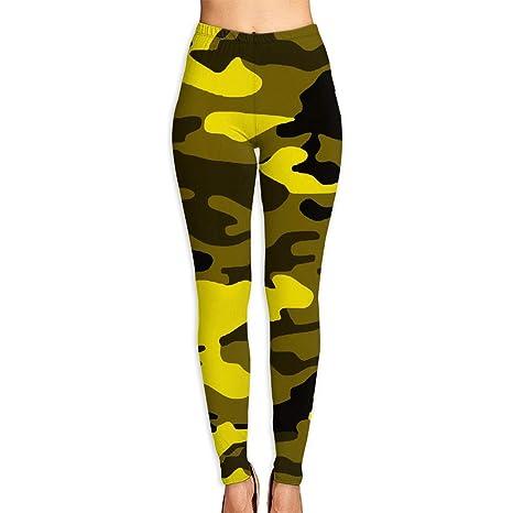18e02019521 Amazon.com: Jadetian Camouflage Yellow Womens Ultra Soft Leggings ...