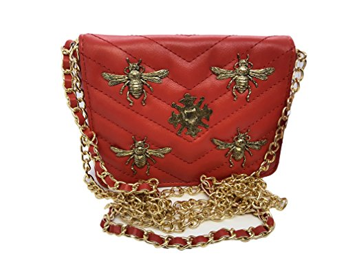 Inzi Inspired Small Insect Bug Bees belt bag Red b7c1a3c61bb13